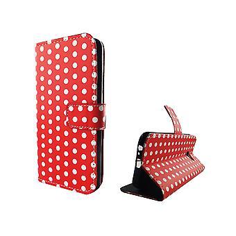 Handyhülle Tasche für Handy Samsung Galaxy A5 2017 Polka Dot Rot