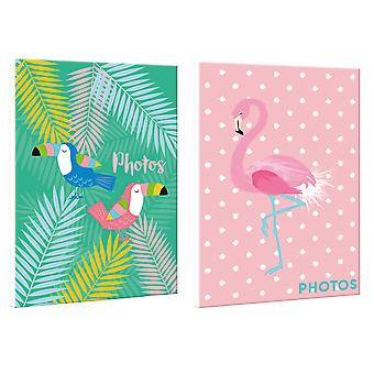 Teen Twin Pack Birds & Flamingo Design Mini Pocket Photo Album 4x6