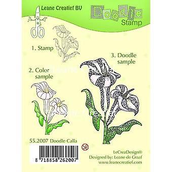 LeCrea - Doodle clear stamp Calla 55.2007