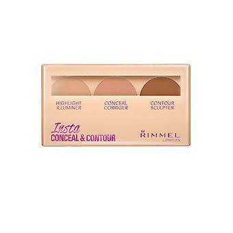 Rimmel London Rimmel Insta Conceal og Contour Palette 8.4g Medium / Moyen #020