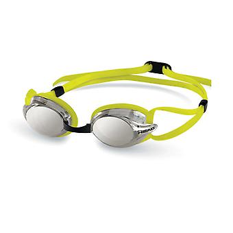 HEAD Venom Racing Swim Goggles - Smoke Mirrored Lens - Lime