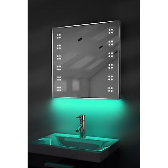 Ultra-Schlanker Spiegel mit UnderLighting, Bluetooth,Demist&Sensor k37waud