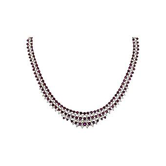 Diamond Gemstone Collier - 18K 750/- Red Gold - 3.1 ct. - 12.0 ct. - 4E176R8-1