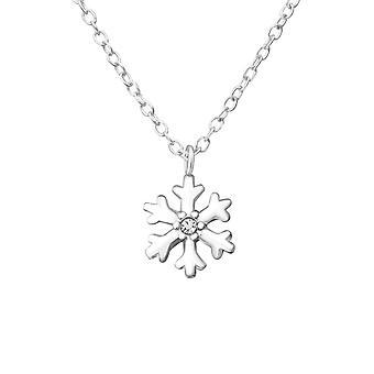 Schneeflocke - jeweled 925 Sterling Silber Ketten - W37560x