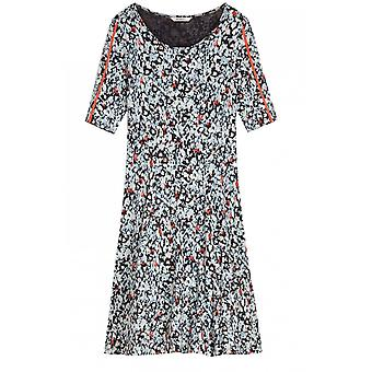 Sandwich Clothing Anthracite Patterned Jersey Dress
