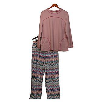 Stan Herman Women's Pyjama Set Microfleece Personality Pink A310786