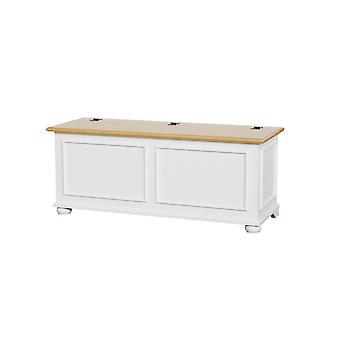Cassapanca Acanto Colore Bianco, Legno in Legno, L120xP42xA50 cm