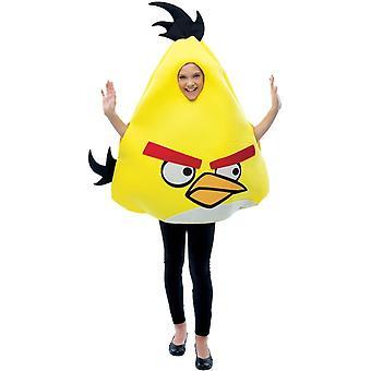 Traje de niño de amarillo Angry Birds