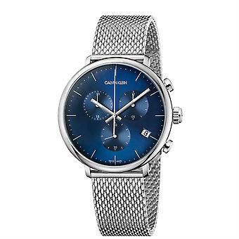 קלווין קליין K8M2712N הכרונוגרף בצהרי הבוקר קוורץ כחול גברים חיוג ' s שעון