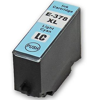 RudyTwos Replacement for Epson 378XLLC Ink Cartridge LightCyan Compatible with XP-8500, XP-8505, HD XP-15000
