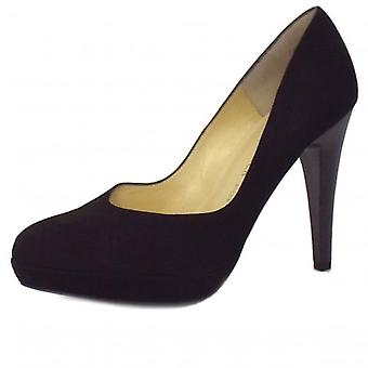 Peter Kaiser New York Ladies Stiletto In Black Suede