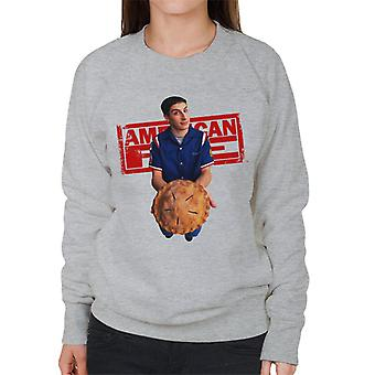 American Pie Jim Holding Pie Women's Sweatshirt