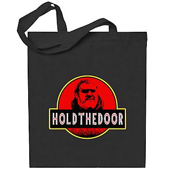 Hodor Jurassic Park Hold The Door Game Of Thrones Totebag