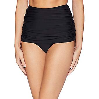 Brand - Coastal Blue Women's Swimwear High Waist Bikini Bottom, Ebony,...