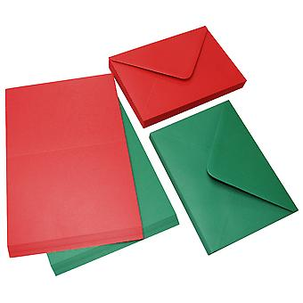 Craft UK Cards & Envelopes C6 Red & Green