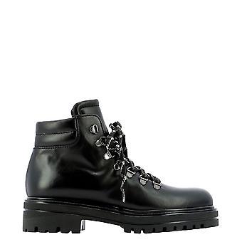 Guglielmo Rotta 5810rranchblack Women's Black Leather Ankle Boots