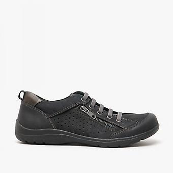Earth Spirit Newton Ladies Leather Casual Shoes Black