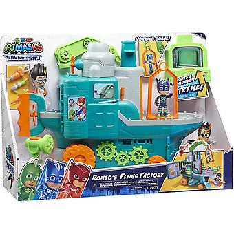 PJ MASKS Romeo's Flying Factory Playset