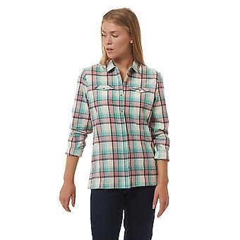 Craghoppers النساء جينيفيف طويل الأكمام قميص البوليستر
