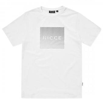 NICCE Nicce Rhombus Reflecterend Logo Wit T-shirt