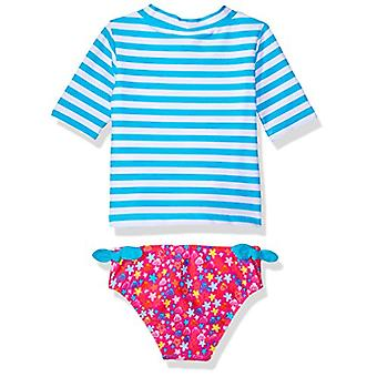 KIKO & MAX Girls' Swimsuit Set met Short Sleeve Rashguard Swim Shirt, Little...