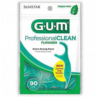 G-u-m professional clean flossers, mint, 90 ea *