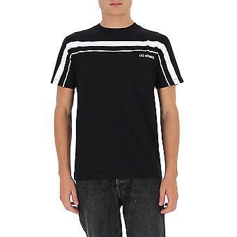 Les Hommes Ljt202700p9000 Men's Zwart Katoen T-shirt