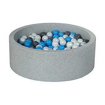 Ball pit 90 cm med 300 bolde perlemor, grå og lyseblå