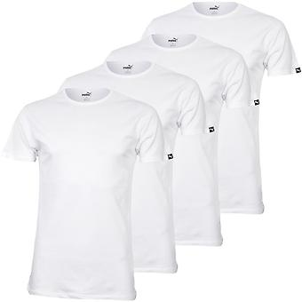 Puma 4-Pack Crew-Neck T-shirts, Wit