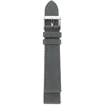 Gv2 By Gevril GV218.16.12.4 Stainless Steel IP Buckle Grey Suede Leather Strap