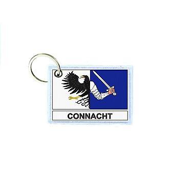 Porte cles cle clefs imprime double face drapeau connacht irlande