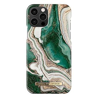 iDeal Of Sweden iPhone 12 / iPhone 12 Pro Shell - Golden Jade Marble
