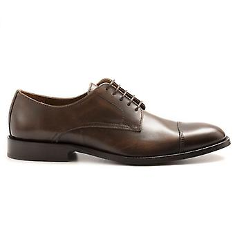 Marco Ferretti Lace-up Shoe In Brown Leather