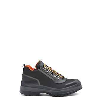 Prada Ezbc021037 Men's Black Leather Ankle Boots