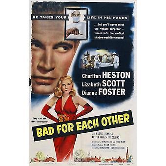 Schlecht für einander Movie Poster (11 x 17)