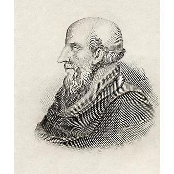 Soli syntyi 280 eaa Khrysippos kuoli 207 eaa kreikkalainen stoalainen filosofi kirjan Crabbes historiallinen sanakirja julkaistu 1825 PosterPrint