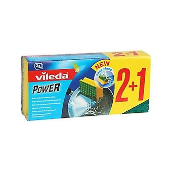 Vileda Zmywak Power Green 2+1 Zielony