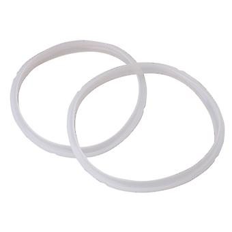 2x Silica Gel Sealing Ring for Electric Pressure Cooker 2.8L White