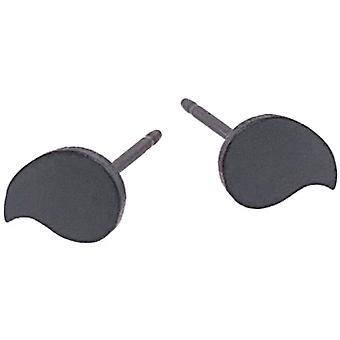 Ti2 Titaani Drop Shape 6mm Nasta korvakorut - Musta