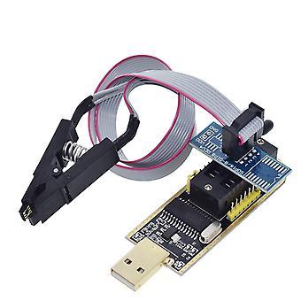 Usb programozó modul + Soic8, Sop8 teszt klip Eeprom