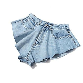 Casual Denim, Shorts Skirts - High Waist Ruffle Pants