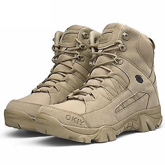 Zimní sníh teplé armádní boty, kožené ležérní boty muži kráva semišový kotník práce