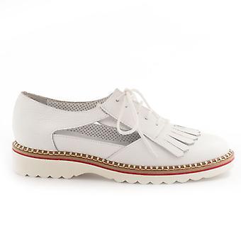 Alfredo Giantin bílá bota s třásněmi