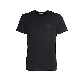 Moncler 8c7c6008390t999 Hombres's camiseta de algodón negro