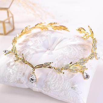 Luxury Crystal Crown Bridal Hair Accessories, Wedding Rhinestone, Waterdrop