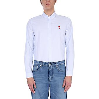 Ami Bfhc013403104 Men's White Cotton Shirt