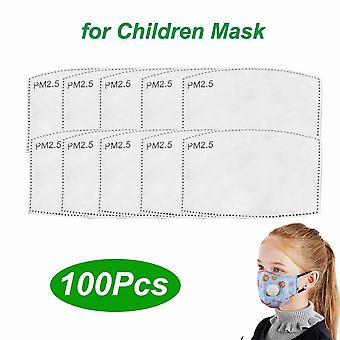 10pcs Pm2.5 Filter Activated Carbon Adult Kid Mask Paper