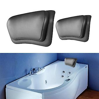 1pcs Spa Bath Pillow Bathtub Pillow Bathroom Neck Support Back Comfort (black)