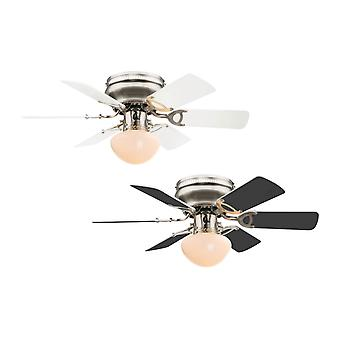 Ceiling fan Ugo White / Graphite with light