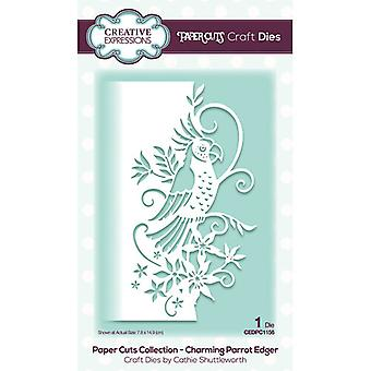 Creative Expressions Paper Cuts Collection Cutting Dies - Charming Parrot Edger